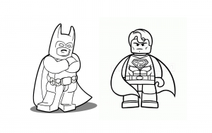 Coloriage superman batman lego