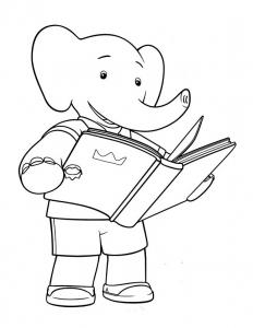 Coloriage babar roi elephant 11