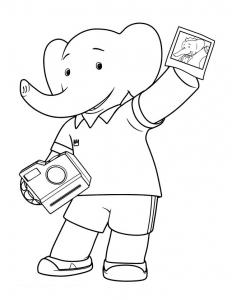 Coloriage babar roi elephant 12