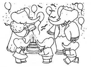coloriage-babar-roi-elephant-15 free to print