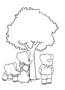 Coloriage babar roi elephant 6