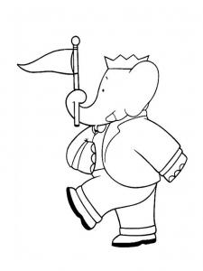 Coloriage babar roi elephant 8