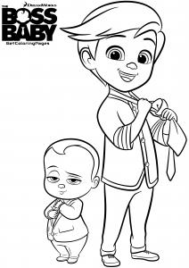 Coloriage de Baby Boss pour enfants