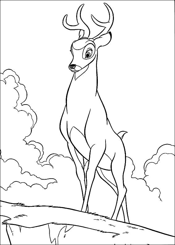 Coloriage De Bambi A Colorier Pour Enfants Coloriage Bambi Coloriages Pour Enfants