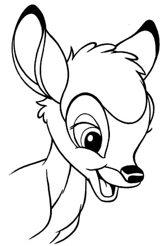 Bambi disney 8 coloriage bambi coloriages pour enfants - Dessin de disney facile ...