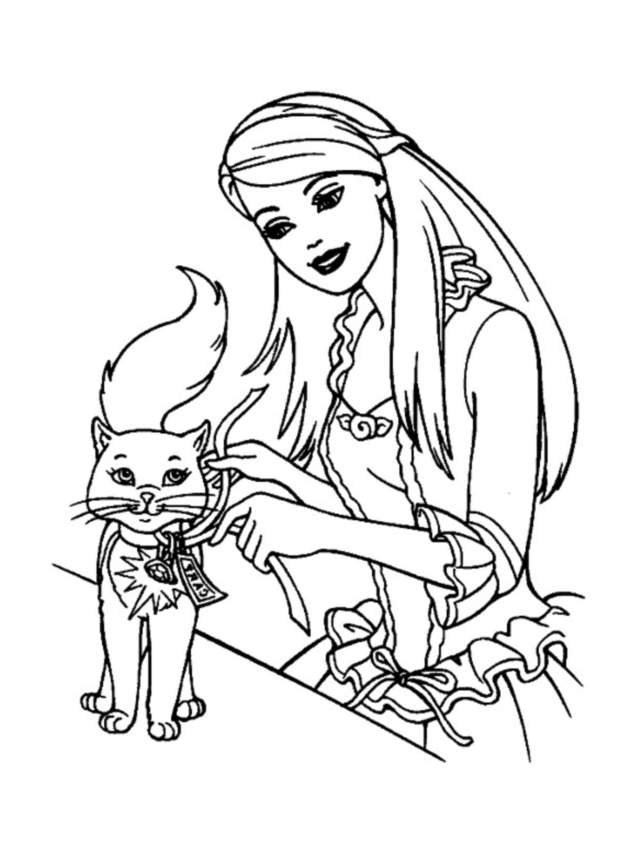 Barbie 9 coloriages barbie coloriages pour enfants - Dessin de barbie facile ...