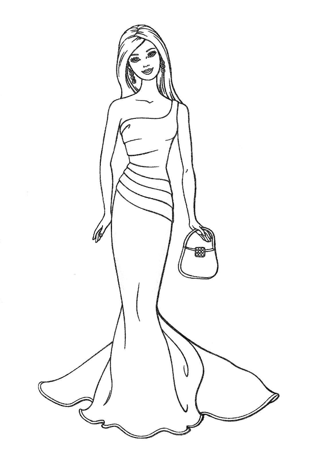 Coloriage de barbie imprimer coloriages barbie coloriages pour enfants - Dessin de barbie facile ...