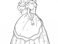 Coloriage de Barbie jolie robe