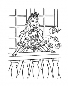 Coloriage barbie 16