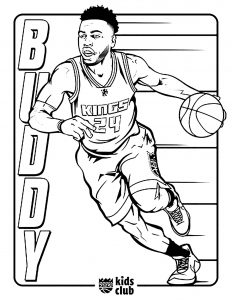 Coloriage enfant basketball 10