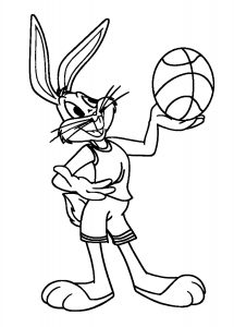 Coloriage enfant basketball 13
