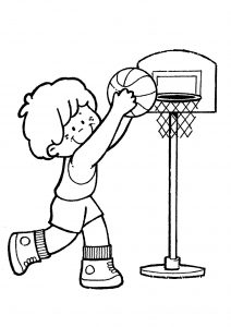 Coloriage enfant basketball 16