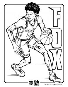 Coloriage enfant basketball 17