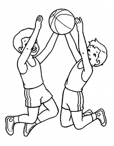Coloriage enfant basketball 18