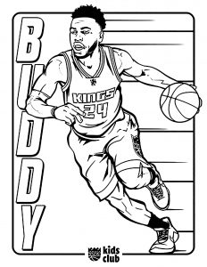 Coloriage enfant basketball 19