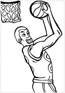 Coloriage enfant basketball 20
