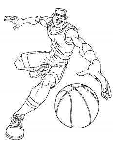 Coloriage enfant basketball 21