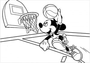 Coloriage enfant basketball 23