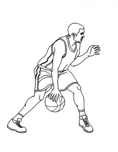 Coloriage enfant basketball 26