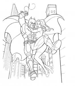 Coloriage batman 1