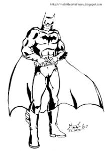Coloriage de Batman à imprimer pour enfants