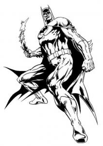 Coloriage de Batman à colorier pour enfants