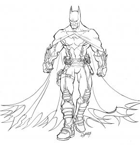 Coloriage de Batman à imprimer gratuitement