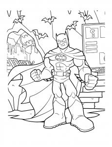 Coloriage de Batman à télécharger