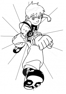 Coloriage de Ben 10 à telecharger gratuitement