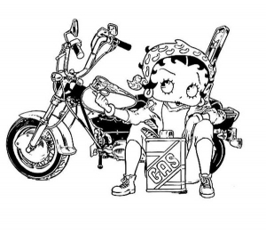 Coloriage betty boop 10