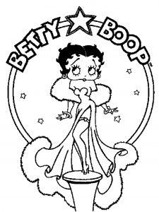 Image de Betty Boop à imprimer et colorier