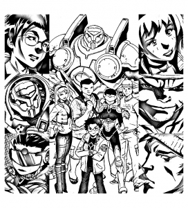 Coloriage big hero 6 comic book