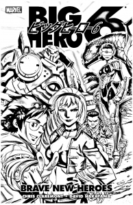 Coloriage big hero 6 comics marvel