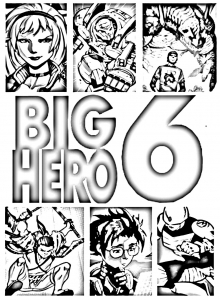 Coloriage de Big Hero 6 à colorier pour enfants