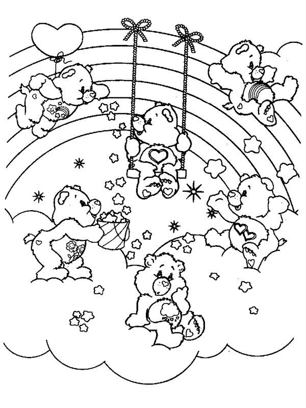 Coloriage de Bisounours à colorier pour enfants - Coloriage Bisounours - Coloriages pour enfants