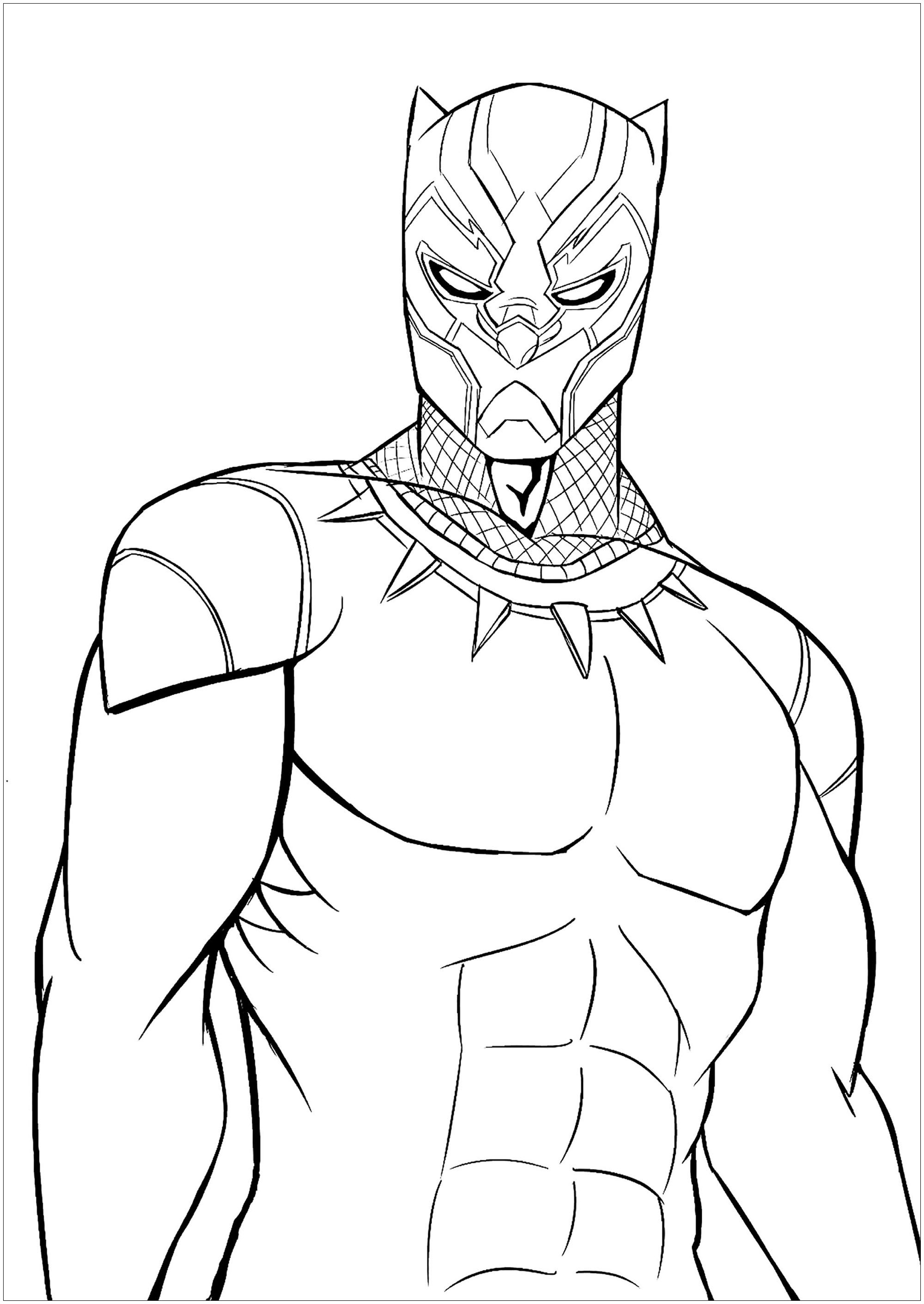 Coloriage De Black Panther.Black Panther 2 Coloriage Black Panther Coloriages Pour