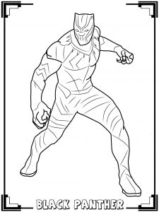 Coloriage black panther 1