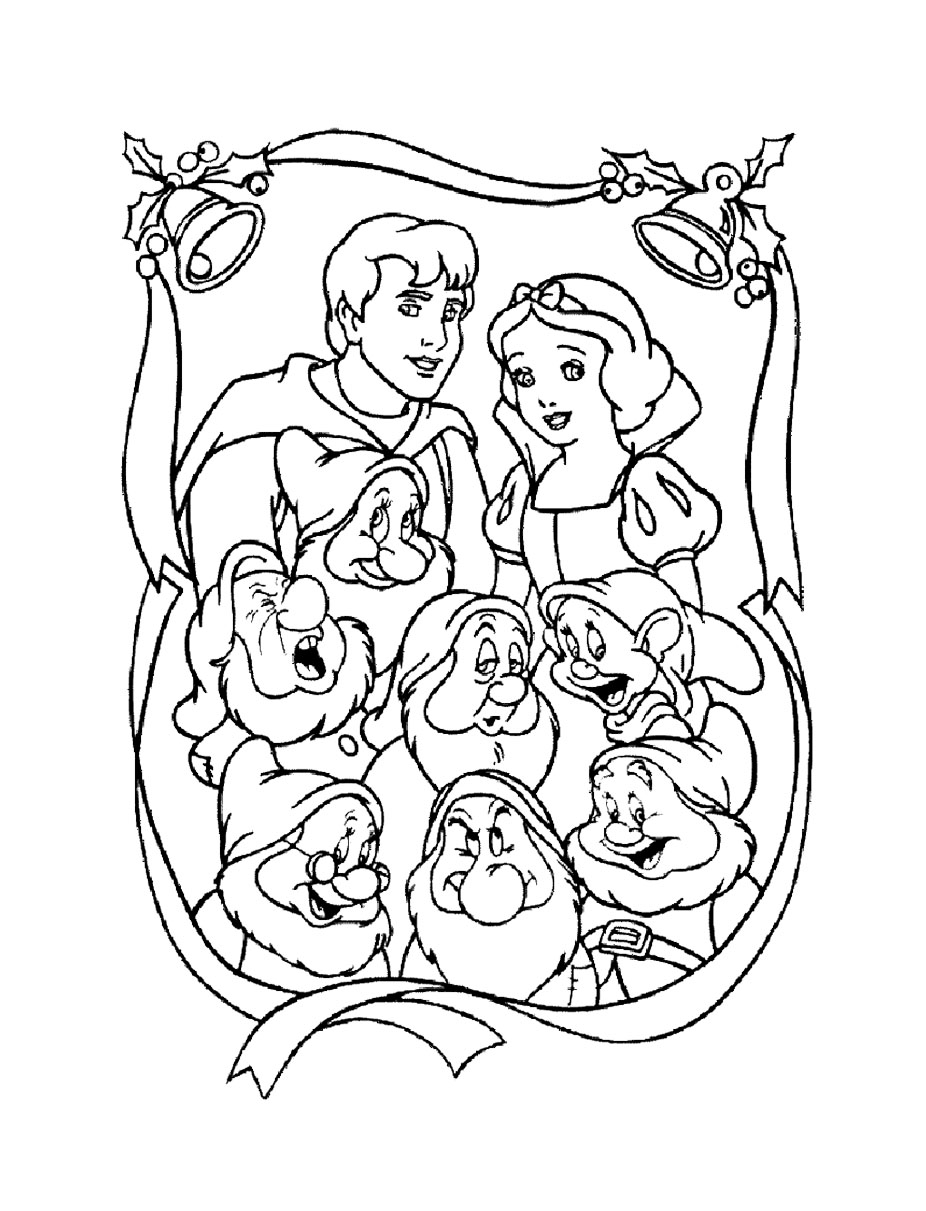 coloriage blanche neige 1