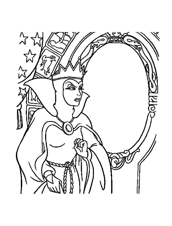 Mechante reine blanche neige 13 coloriage blanche neige for Miroir magique blanche neige