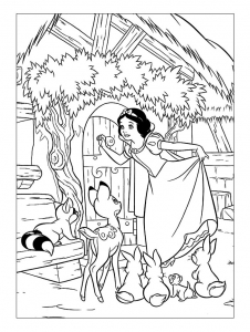 Coloriage blanche neige 11