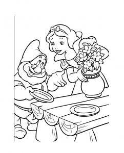 Coloriage blanche neige 17