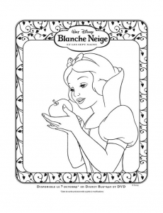 Coloriage blanche neige 3