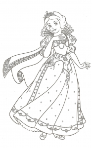 Coloriage blanche neige 4