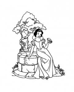 Coloriage blanche neige 7