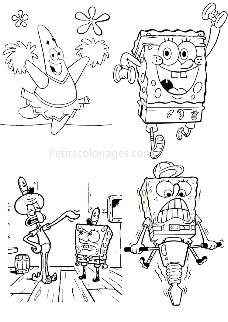 Bob l eponge 4 coloriage bob l 39 ponge coloriages pour enfants - Dessin eponge ...