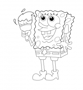 Bob l eponge a colorier 1