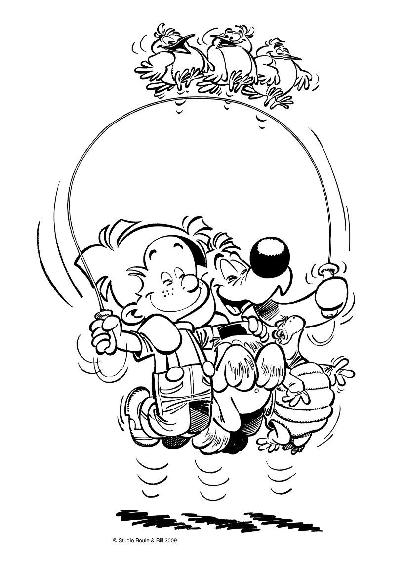 Jeux 07 coloriage boule et bill coloriages pour enfants - Boule et bill coloriage ...