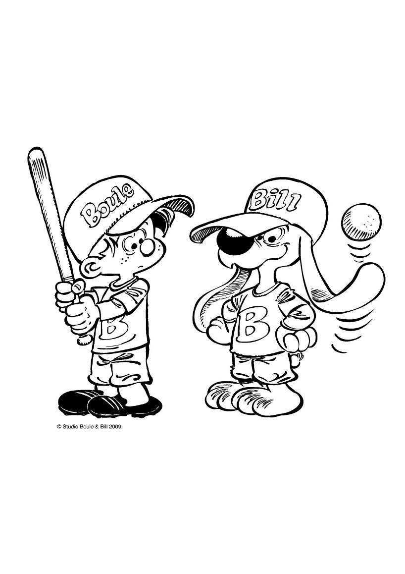 Base ball pour Boule et Bill !
