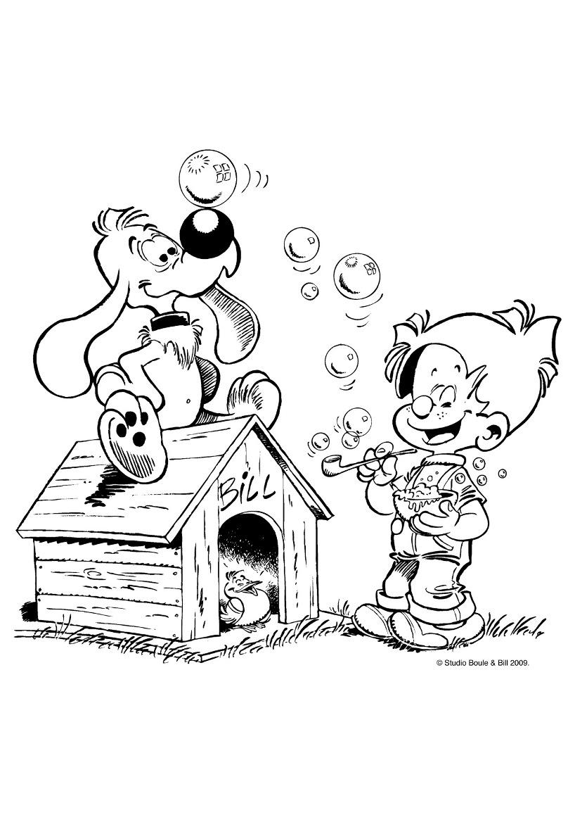 Boule et bill 6 coloriage boule et bill coloriages - Coloriage niche ...