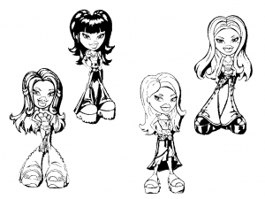 coloriage-bratz-5 free to print